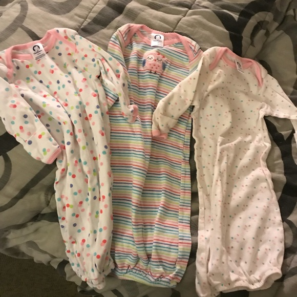 Gerber Pajamas | Lot Of 3 Baby Sleeper Gowns | Poshmark